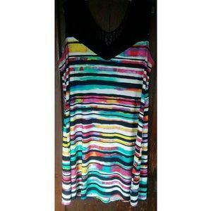 Avenue Multicolored Sleeveless Dress Sz 22/24